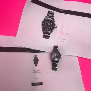 Chanel J12 Black Ceramic/Steel 33mm Watch